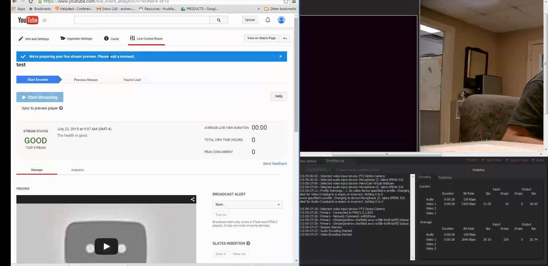 Streaming to YouTube Live with Flash Media Encoder - PTZOptics