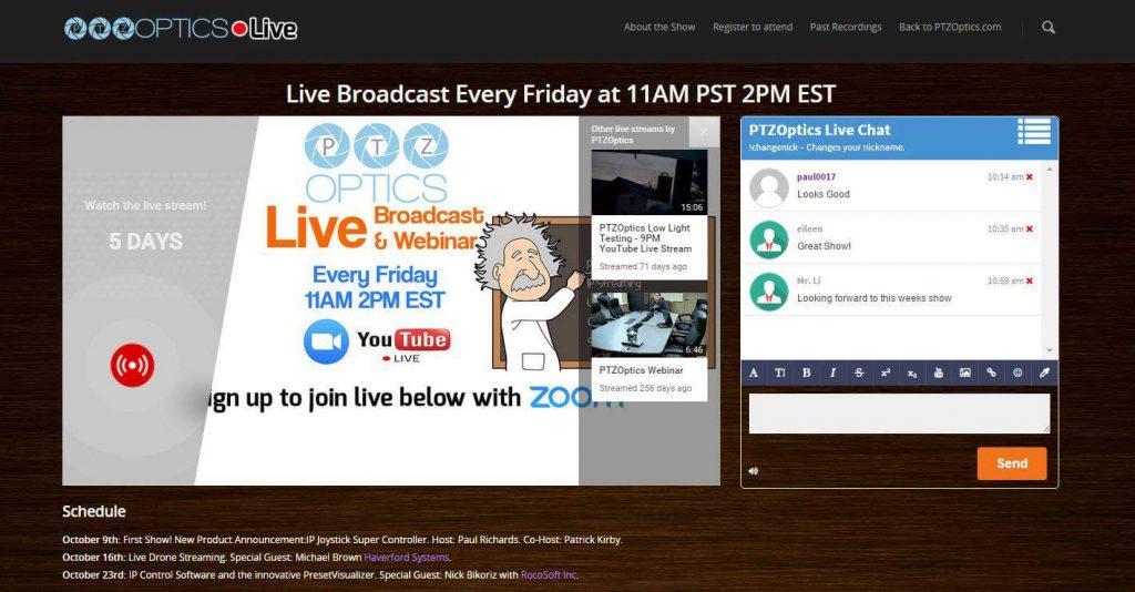 PTZOptics YouTube Live Embedding a Video