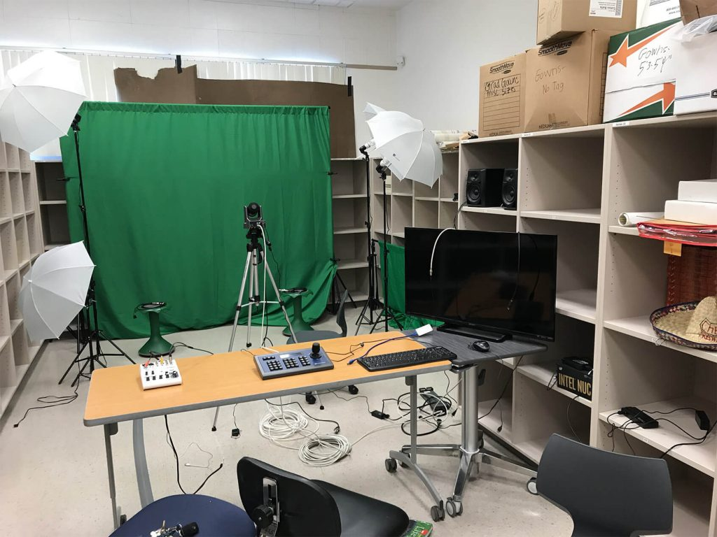 student camera operations set up