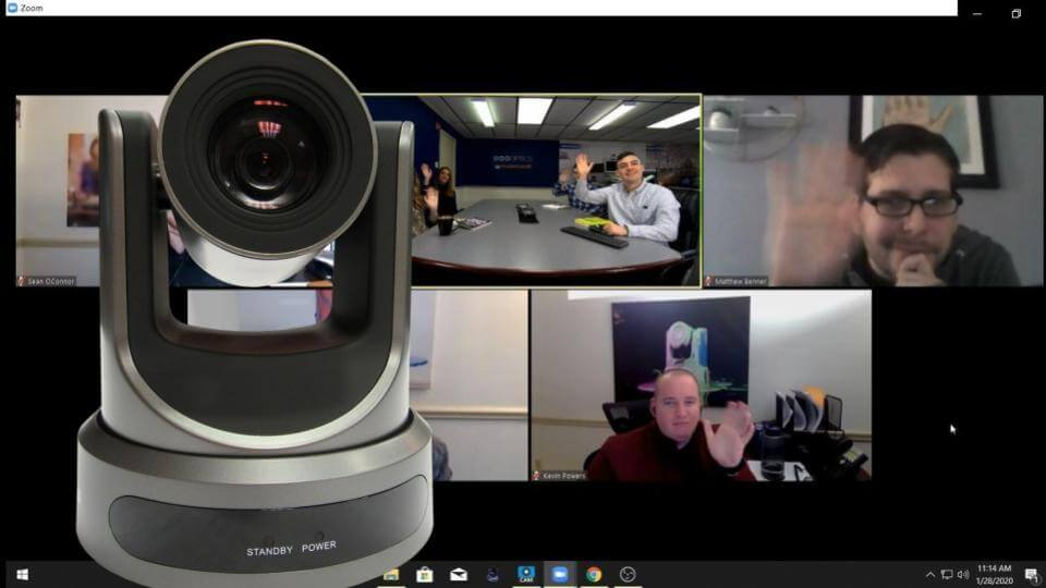 Remote PTZ Camera Controls in Zoom Video Conferencing