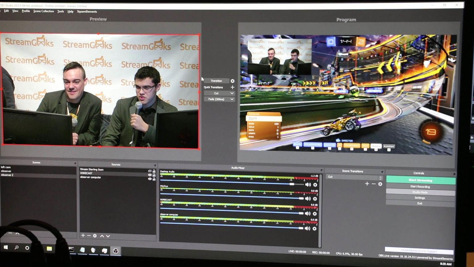 OBS LIVE STREAM with PTZ Cameras