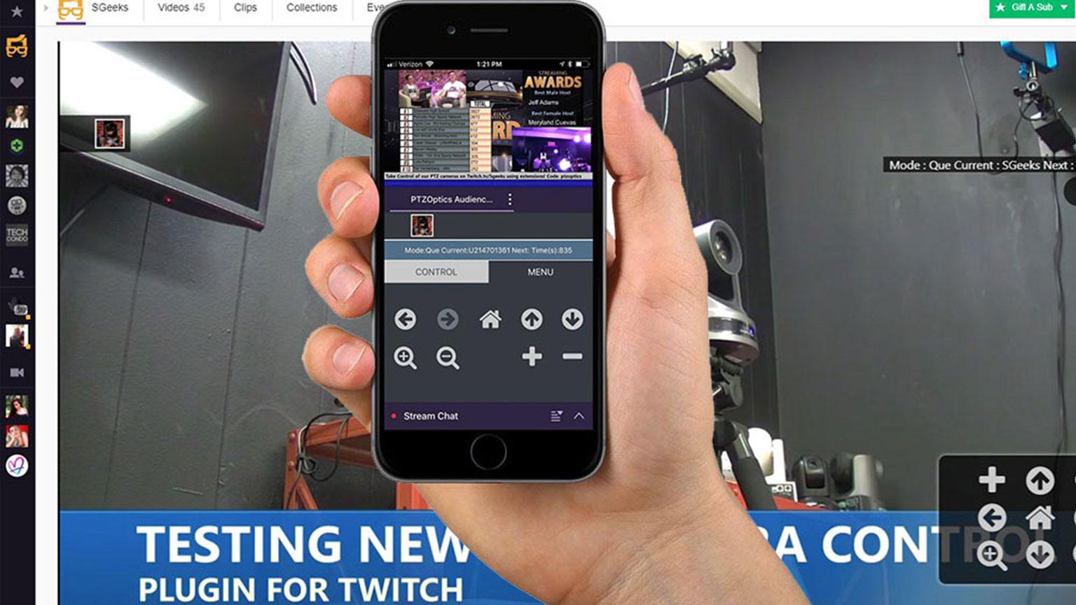 PTZ Camera Partnership with Twitch