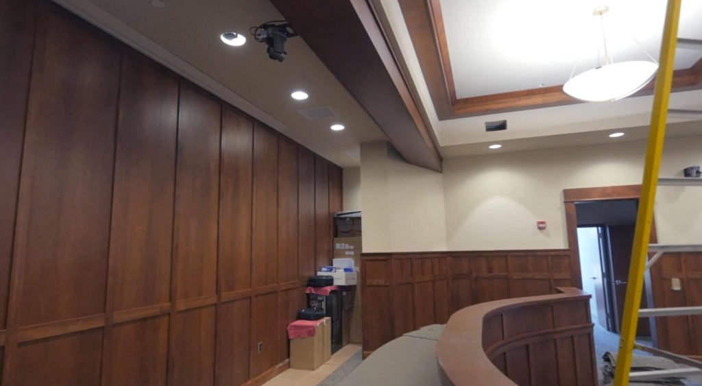 PTZ Camera in Ceiling at City Hall