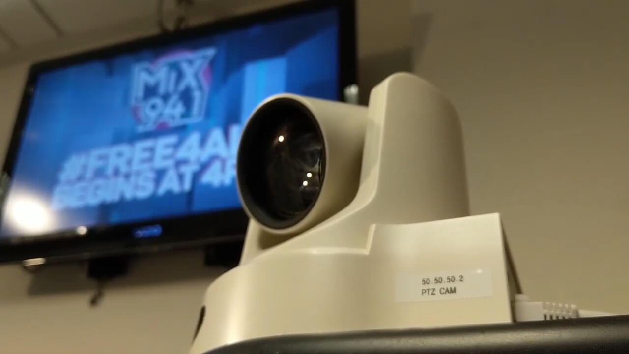 PTZ Camera in Radio Station