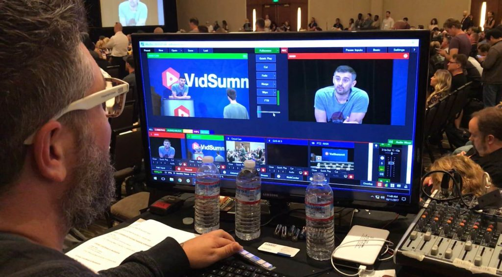 Live streaming cameras in Event