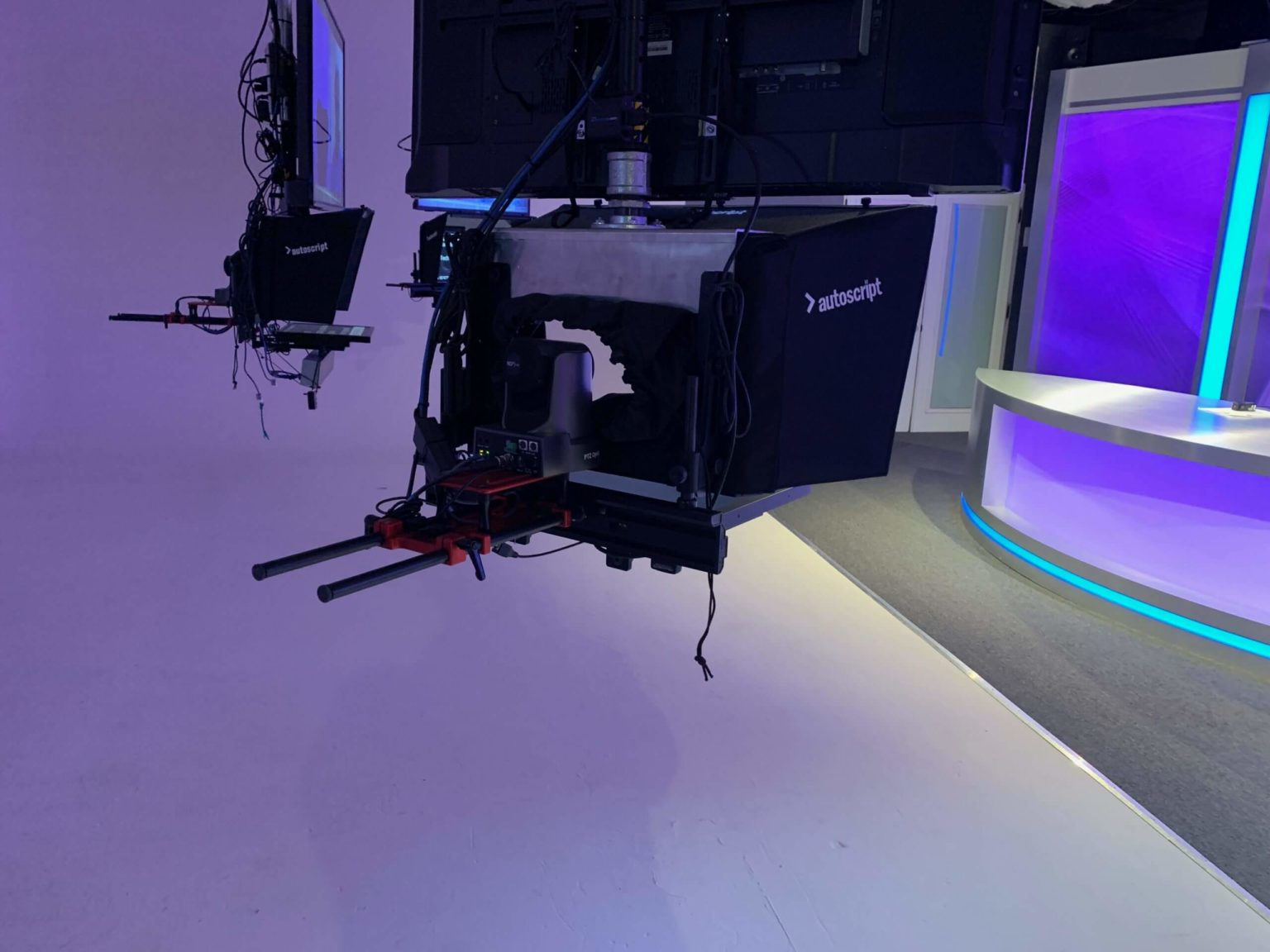 PTZ Cameras inside of teleprompters