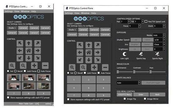 Multiple PTZ Control options