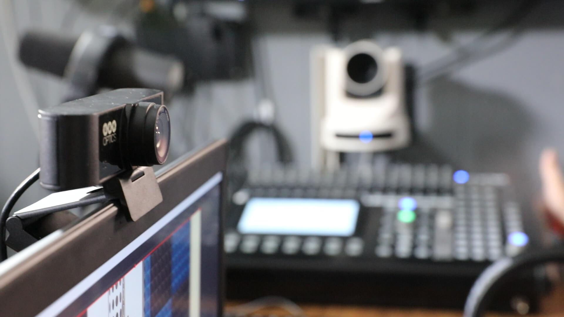 USB Webcam 80 PTZ Optics in studio