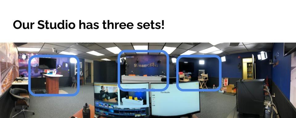 Multiple sets in a studio