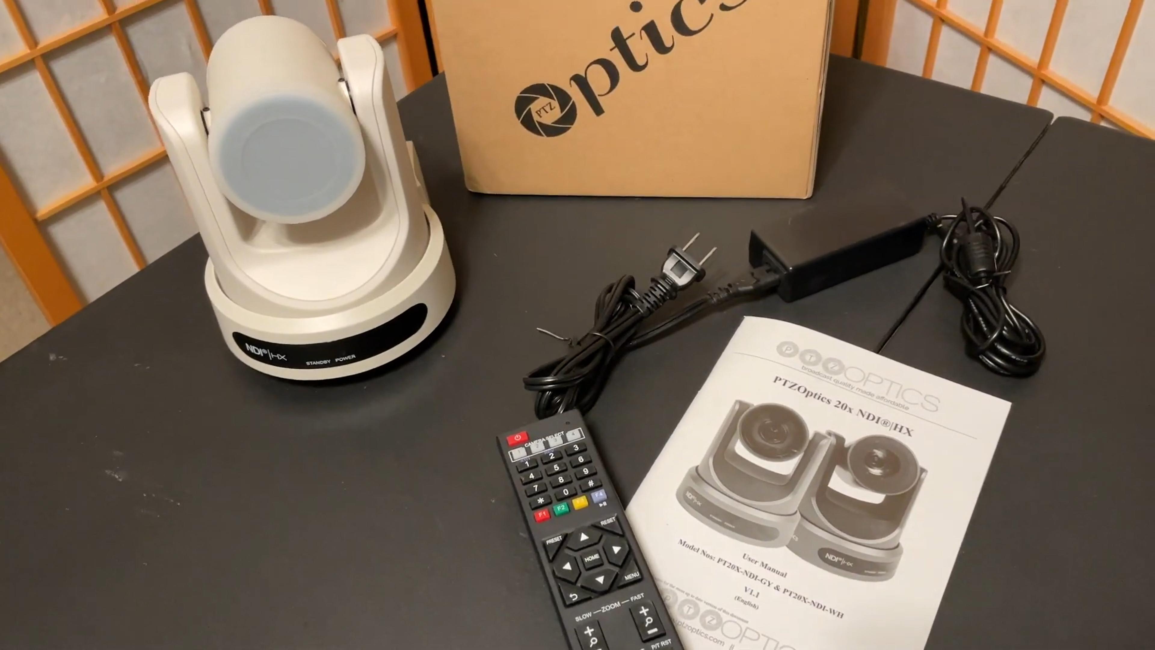 Unboxing the PTZOptics 20x NDI camera
