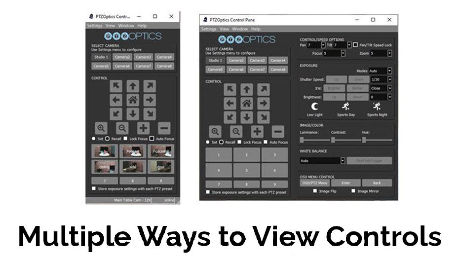 Multiple-PTZ-Control-options