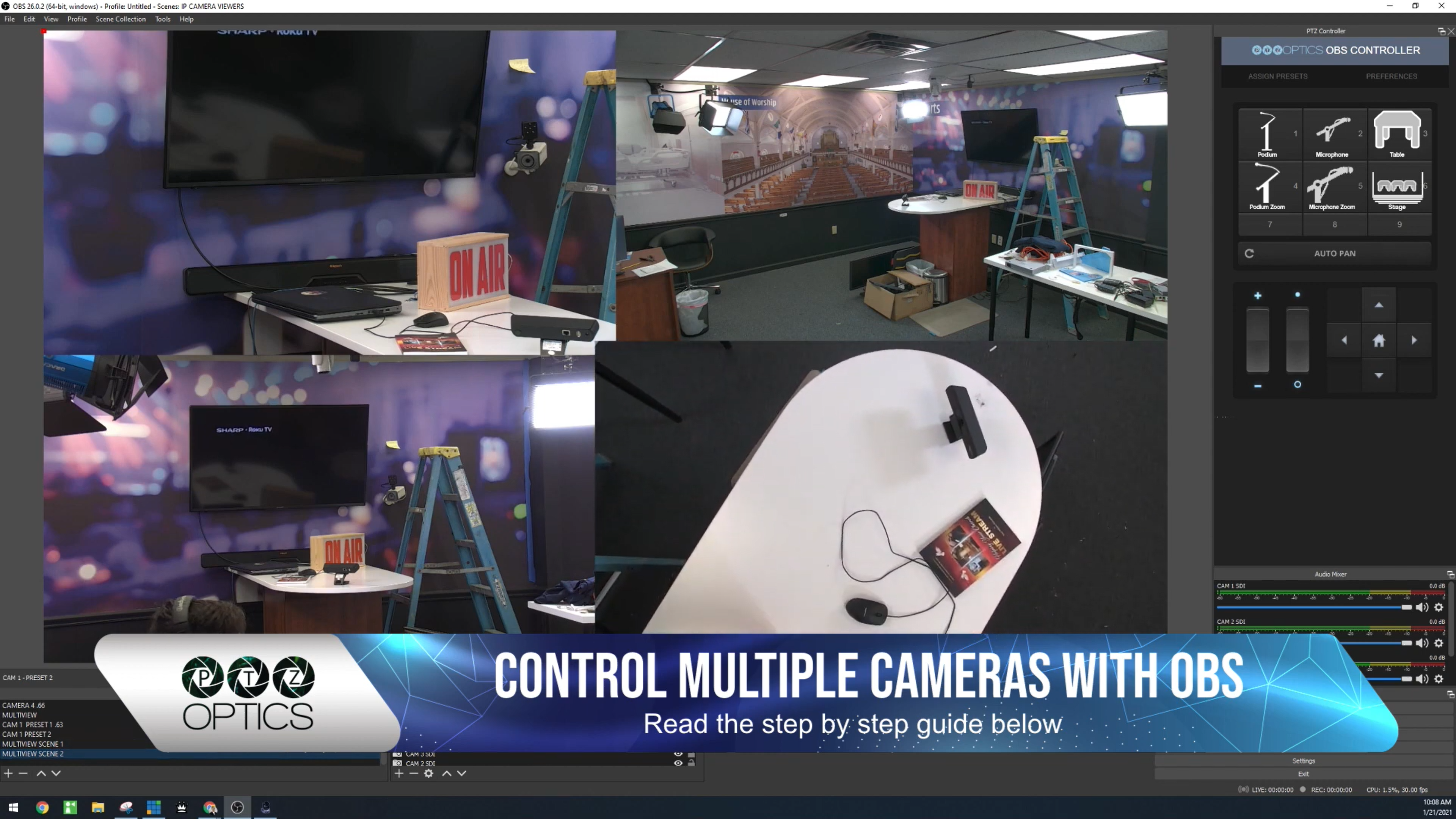 Control multiple cameras with OBS