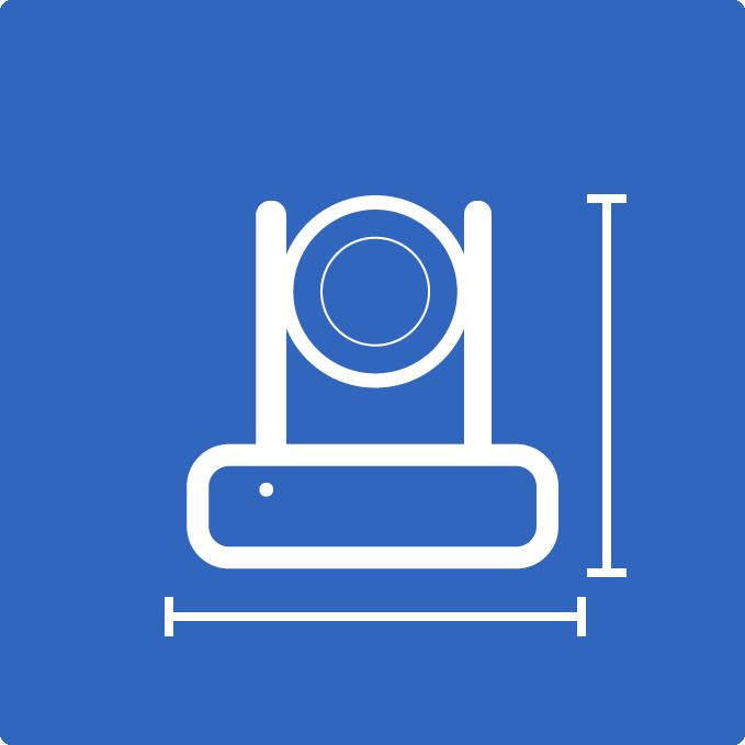 PTZOptics camera dimensions