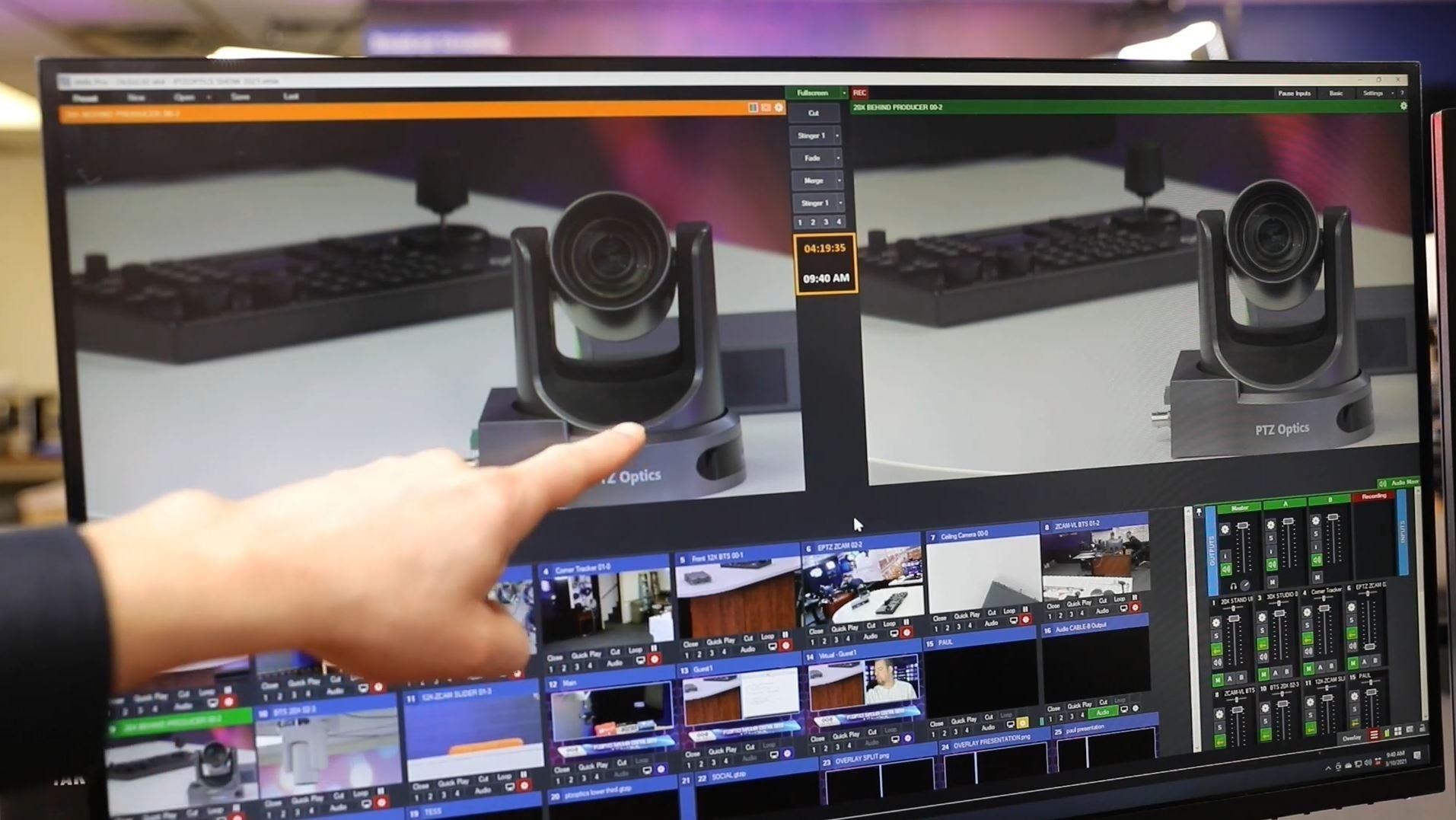vMix camera control options