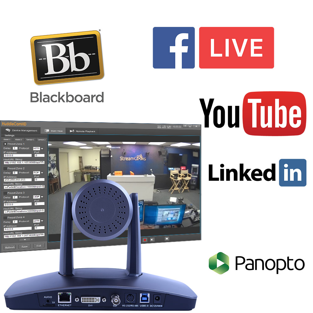 Auto Tracking Camera Live Streaming