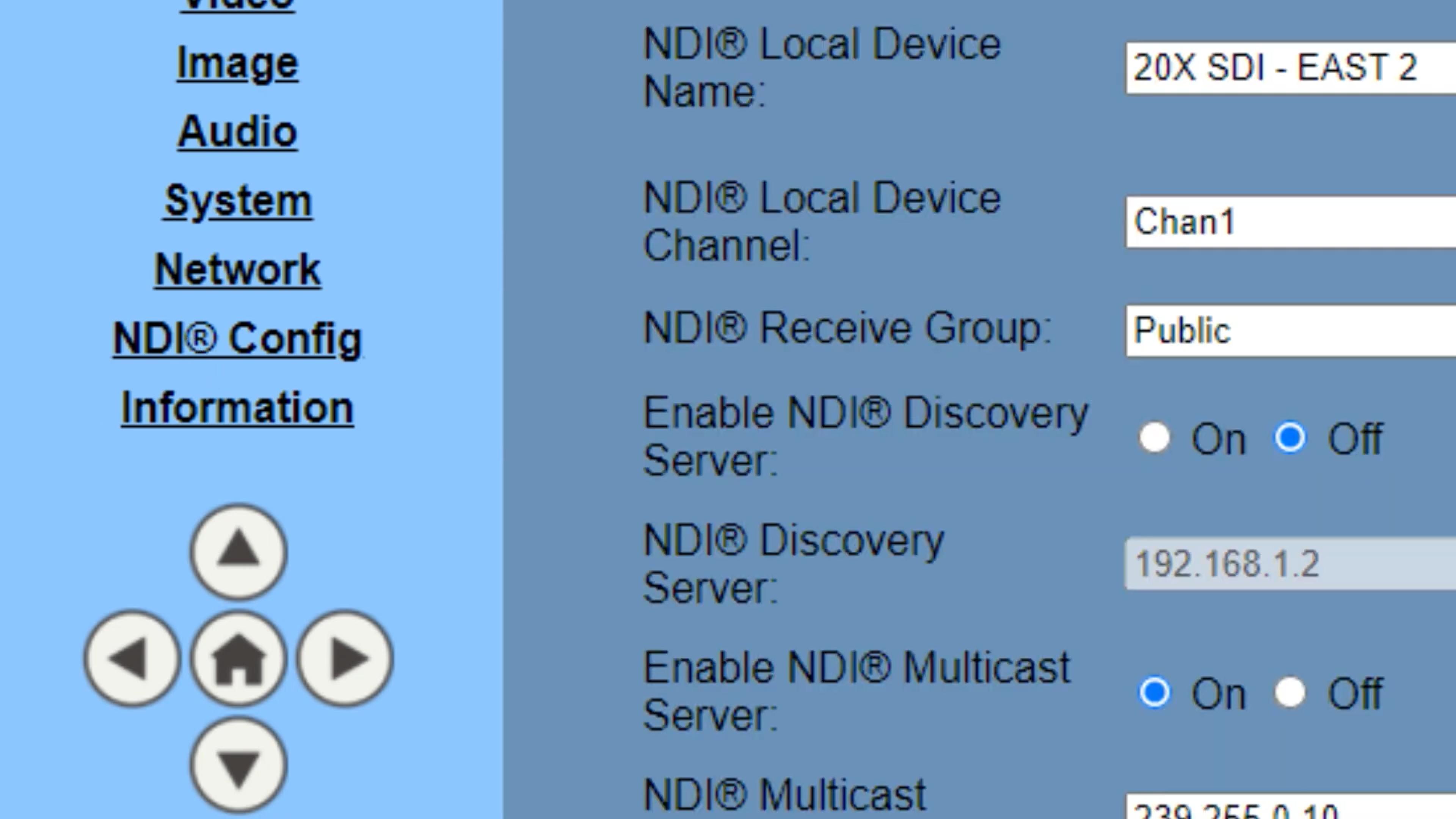 NDIv4 Configuration